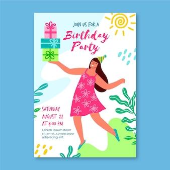 Geburtstagseinladungsschablone