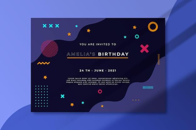 Geburtstagsfeier-einladungsschablone
