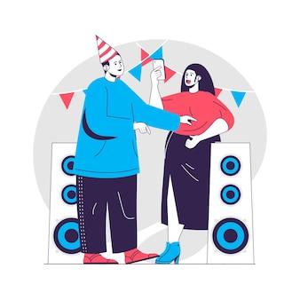 Geburtstagsfeier-konzeptillustration