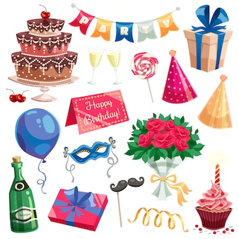 Geburtstagsfeier-set