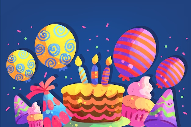 Geburtstagsfeier tapete