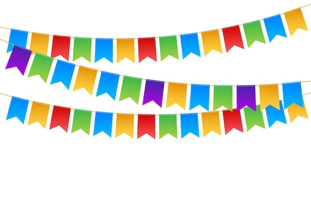 Geburtstagsfeiereinladungsfahnenillustration