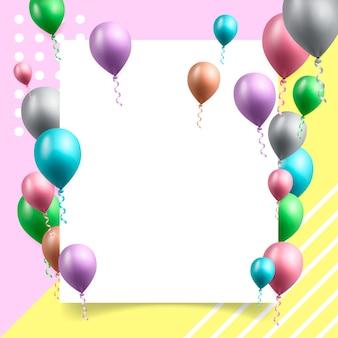 Geburtstagsfeierkarte mit ballonen