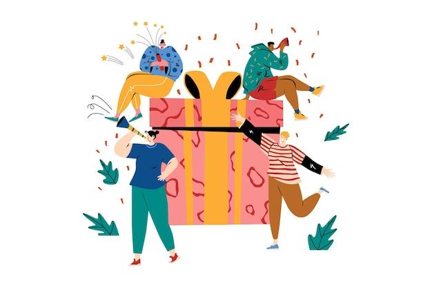 Geburtstagsgeschenk illustration