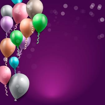Geburtstagsgrußkarte mit ballonen