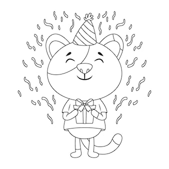Geburtstagsgrußkarte mit einer katze