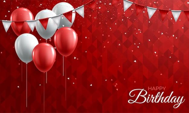 Geburtstagshintergrund mit bunten luftballons