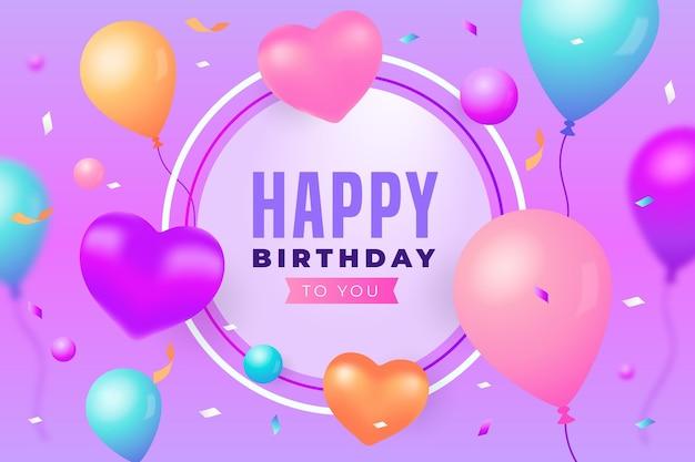 Geburtstagshintergrund mit luftballons