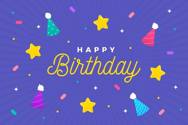 Geburtstagshintergrund mit zapfen und sternen