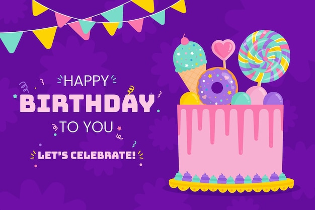 Geburtstagshintergrundzeichnung