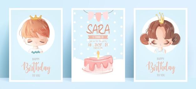 Geburtstagskarte aquarellstil.