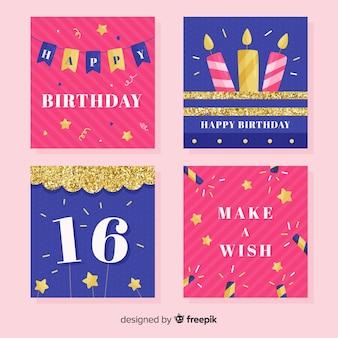 Geburtstagskarte gesetzt
