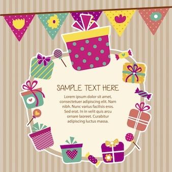 Geburtstagskarte in scrapbook-stil