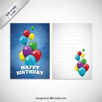 Geburtstagskarte mit luftballons