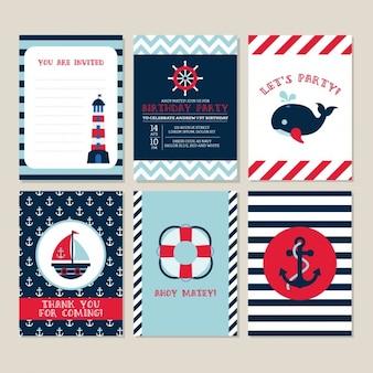 Geburtstagskarte mit nautischen elementen