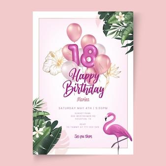 Geburtstagskartenvorlage
