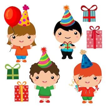 Geburtstagskind niedlich elementsammlung