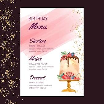 Geburtstagsmenüvorlage