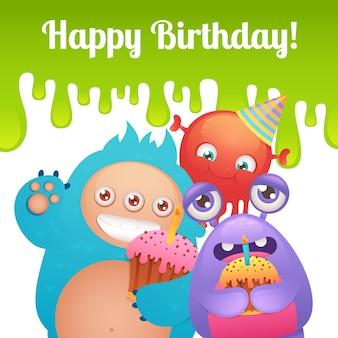 Geburtstagsmonsterkarte