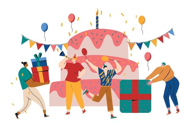 Geburtstagsparty illustration