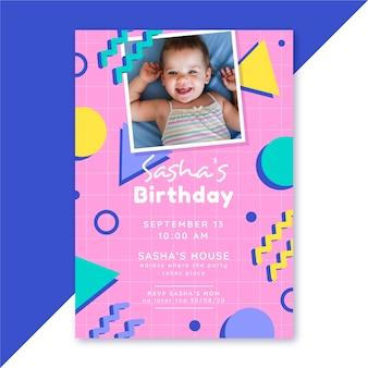 Geburtstagsplakatschablone