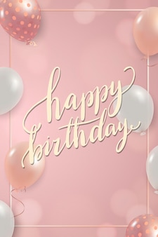 Geburtstagsschild mit luftballons rahmendesign