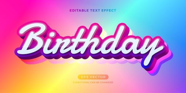 Geburtstagstext-effekt