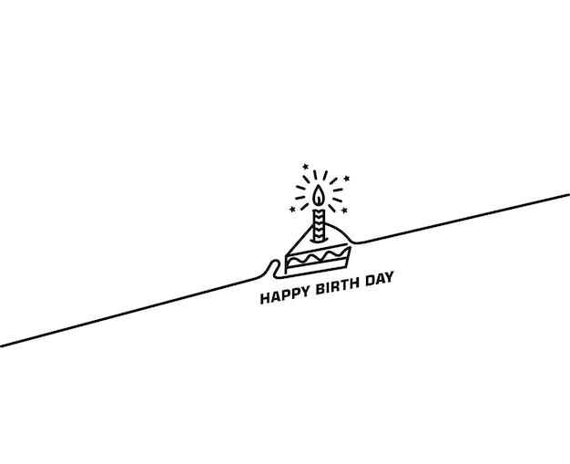 Geburtstagstorte-symbol-vektor-illustration. alles gute zum geburtstag. kuchen für geburtstagsfeier mit kerzen.