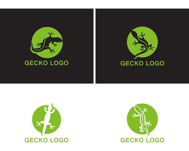Gecko grünes logo vektor symbol