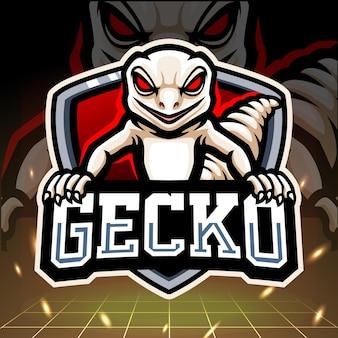 Gecko-maskottchen-esport-logo-design