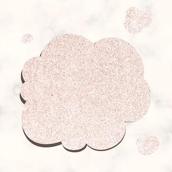Gedankenblasenvektor im glitzerrosa-texturstil