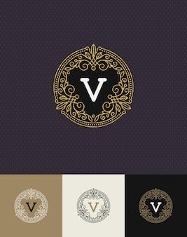 - gedeiht glitter gold monogramm logo.