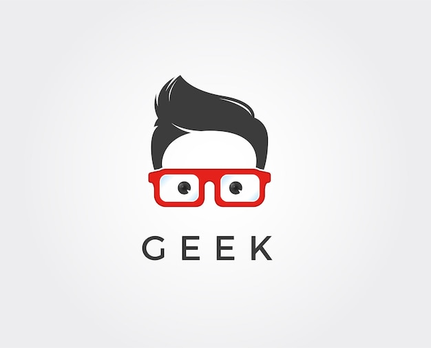 Geek infinity-logo-vektor-vorlage, creative geek-logo-design-konzept