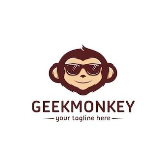 Geek monkey logo vorlage
