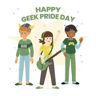 Geek pride day konzept