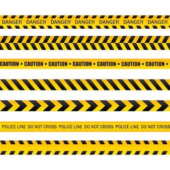 Gefährliche warnbänder