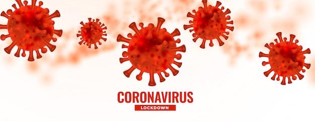 Gefährlicher coronavirus covid19 ausbruch verbreitete hintergrunddesign