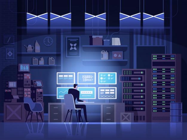 Gefährlicher hacker bricht in staatliche datenserver ein