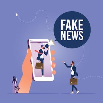 Gefälschte nachrichten oder irreführende informationen, die menschen in sozialen medien und im internet teilen