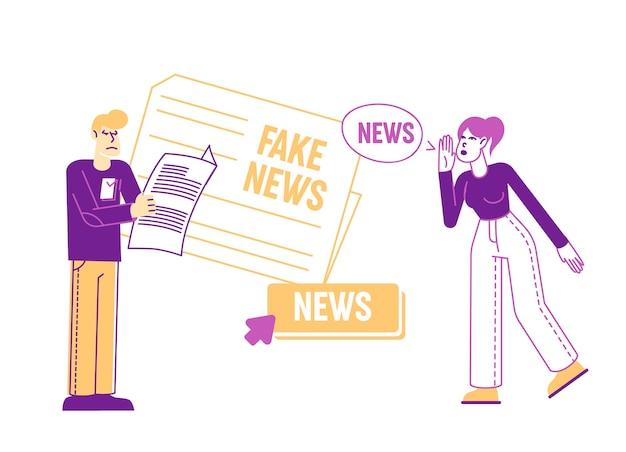 Gefälschte nachrichteninformationen und desinformation