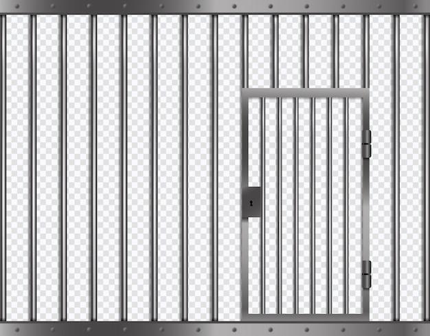 Gefängnisstangen mit tür im gefängnis