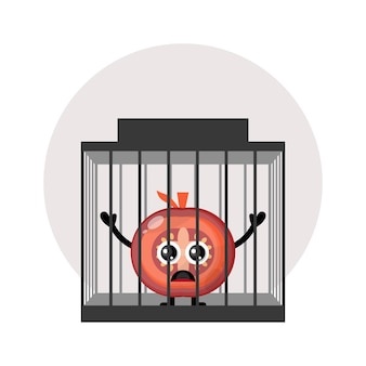 Gefängnistomate süßes charakterlogo