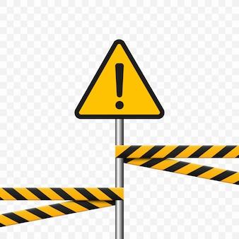 Gefahrensymbol. dreieck auf transparentem hintergrund. warnschild hochspannung, gefahr.