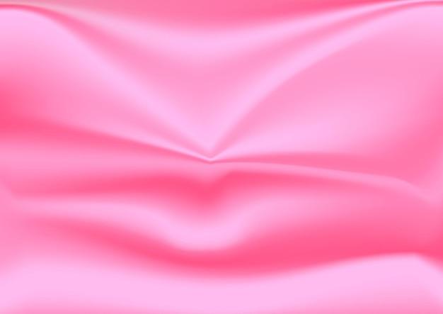 Gefalteter rosa seidiger stofftextilhintergrund editierbar