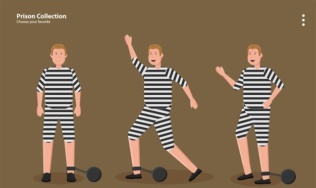 Gefangener räuber kriminelle kriminalität bandit zelle mentale wand sperre illustration hintergrund wallpaper symbol