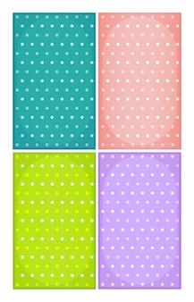 Gefleckte hintergründe in verschiedenen farben