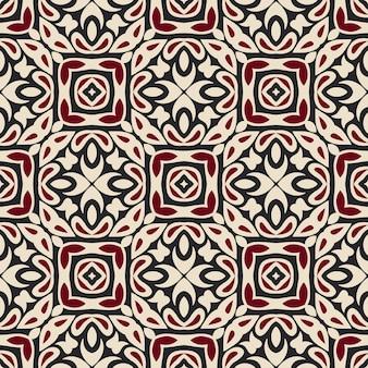 Gefliestes ethnisches muster. nahtloses muster des abstrakten geometrischen mosaikweinles