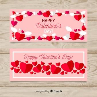 Geflügelte herz valentine banner