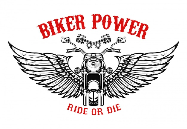 Geflügeltes motorrad. elemente für plakat, flyer ,. illustration