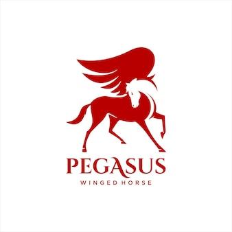 Geflügeltes pferd pegasus einfache vektorillustration